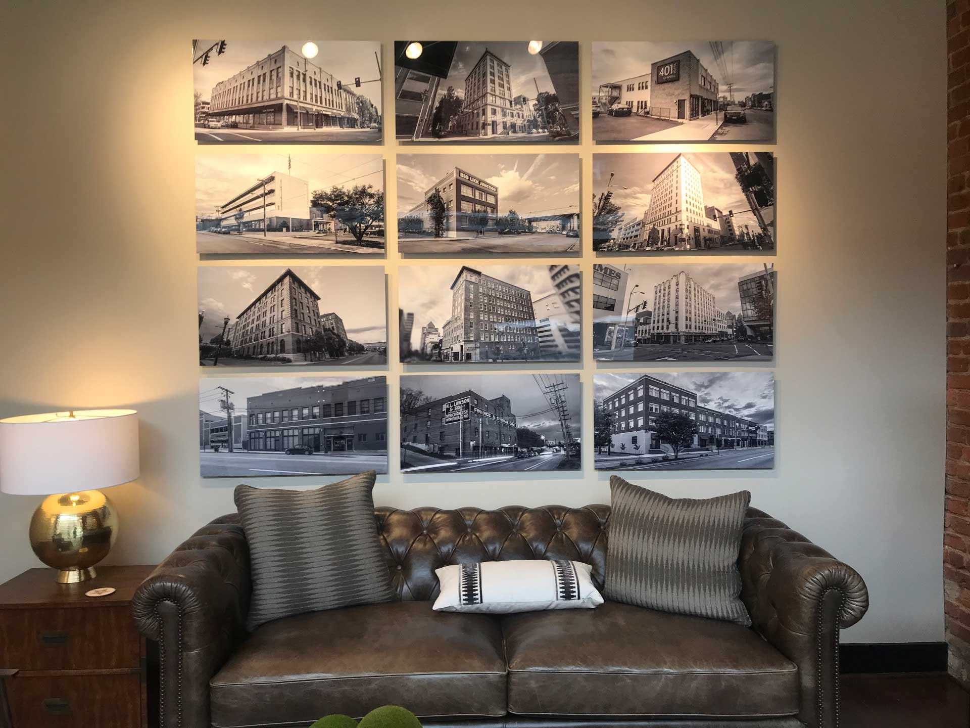 Allegheny Partners living space with photos of properties